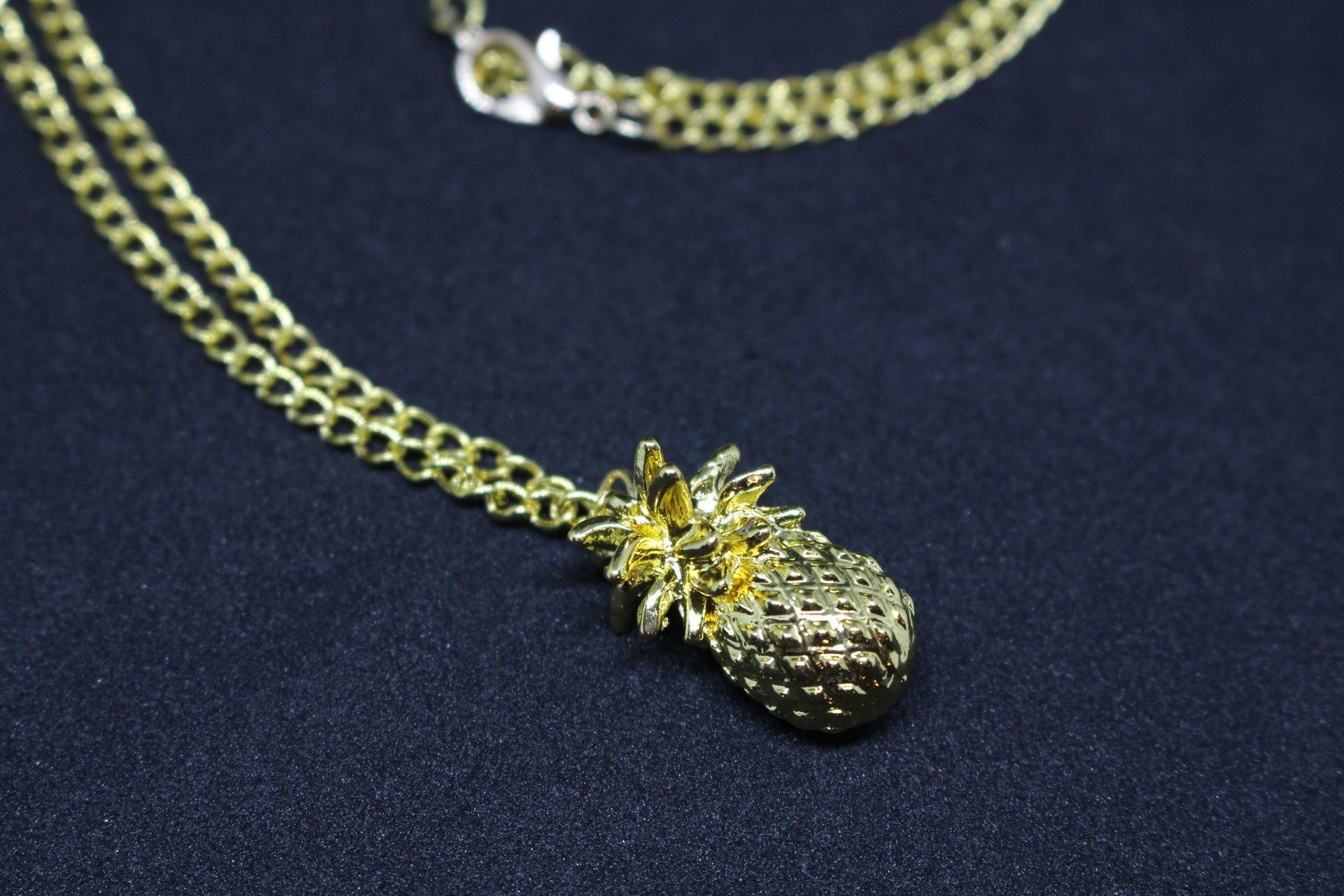 Gold Pinapple Necklace