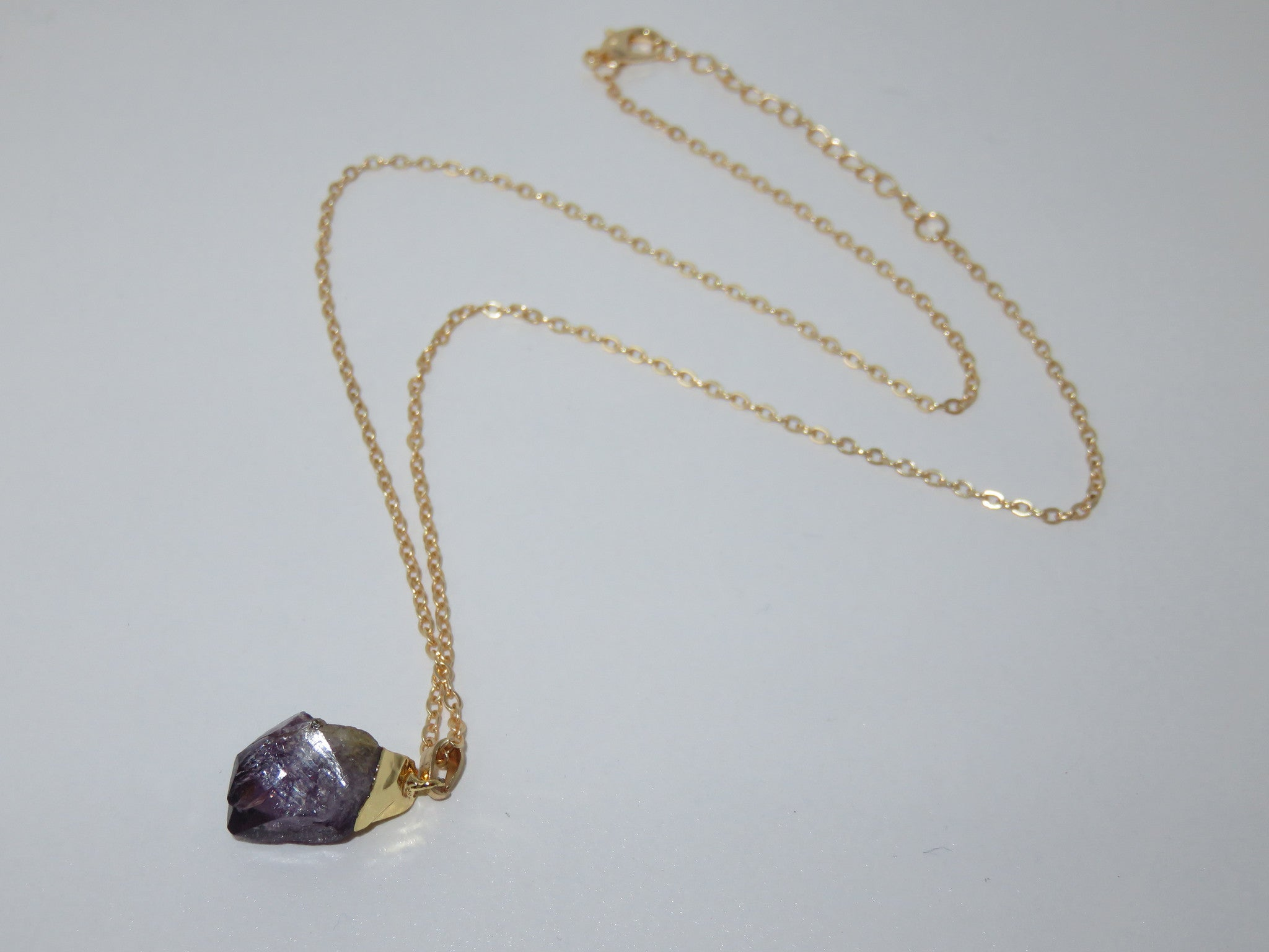 Amethyst Gold plated necklace - Asharlah.com
