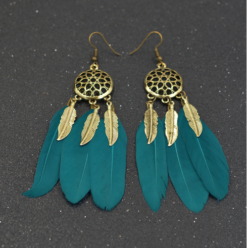 dreamcatcher Feather Earring