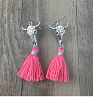 Bull Skull Earrings