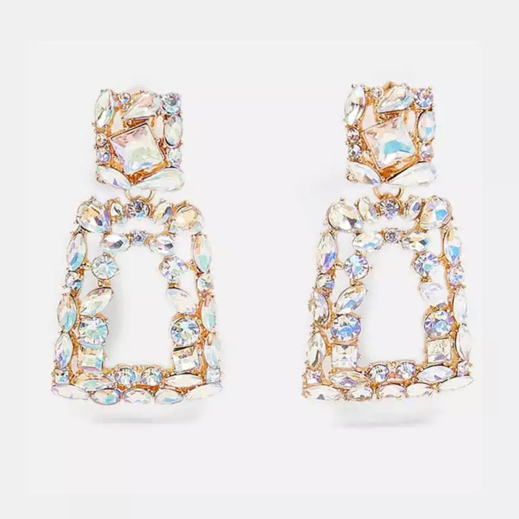 Iridescent Jewel Drop Earring