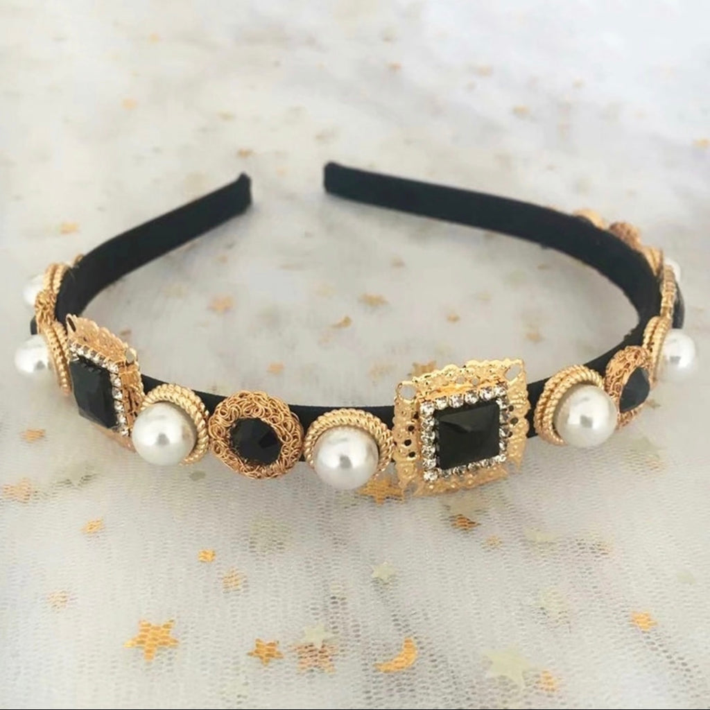 Black Jewel Headband