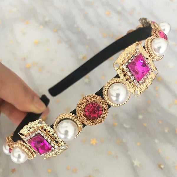 Pink Jewel Headband