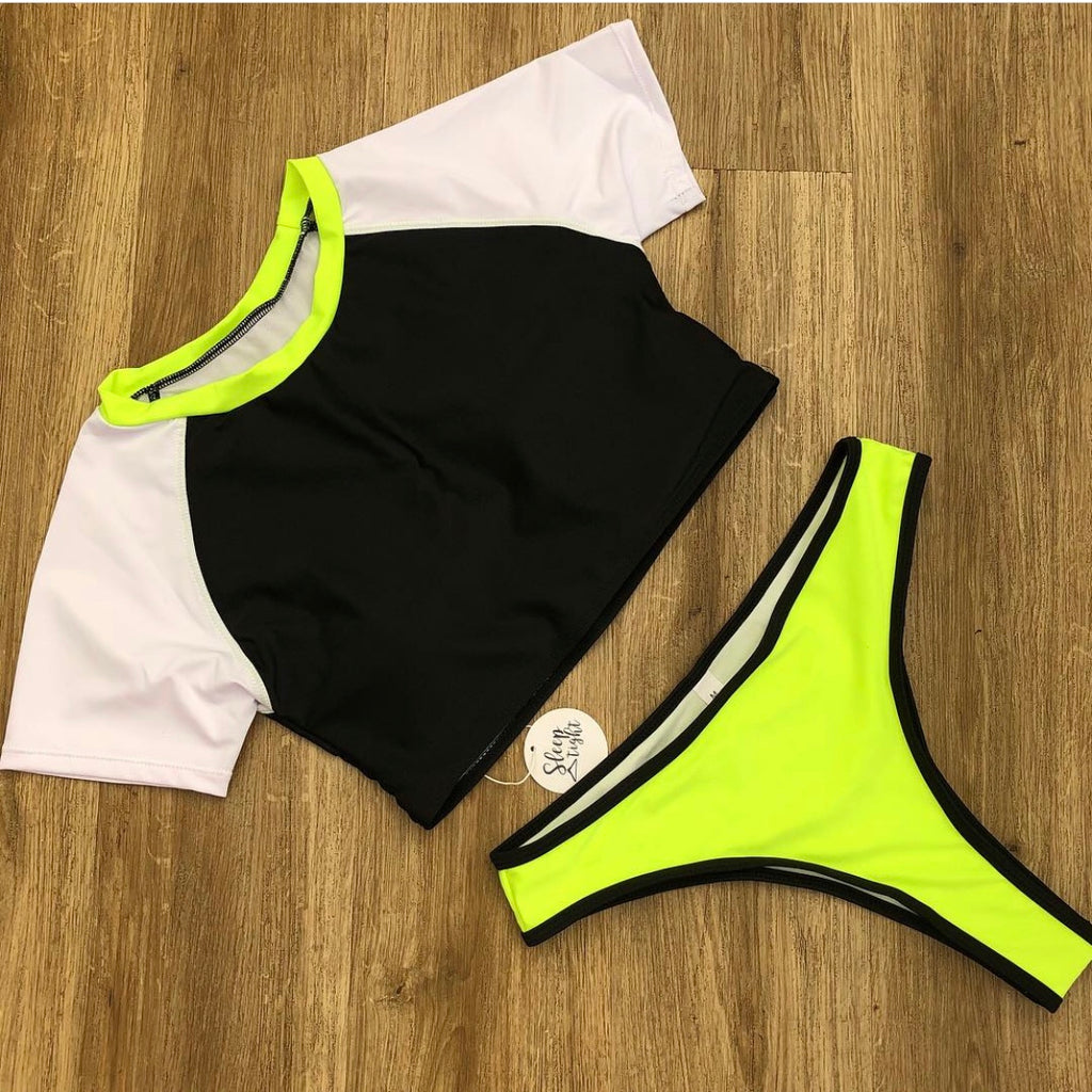 Neon T-Shirt High Leg Bikini
