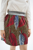 Mini skirt with elasticated waistband  - Holland wax
