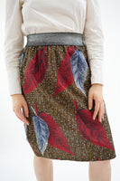 Midi skirt with elasticated waistband  - Holland wax