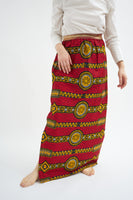 Maxi skirt with elasticated waistband  - Holland wax