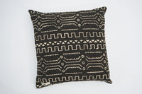Mudcloth Bogolan pillowcase - Black
