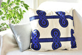 Cotton pillowcase - African wax - Blue