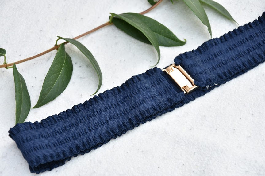Elastic belt - Navy blue