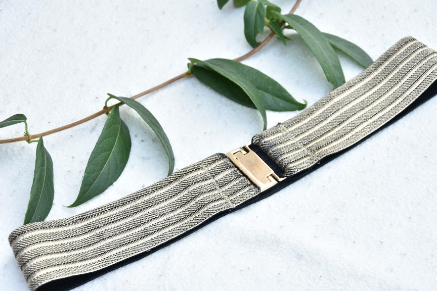 Elastic belt - Antique gold