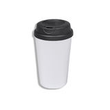 380ml Polymer Double Wall Tumbler with Black Lid
