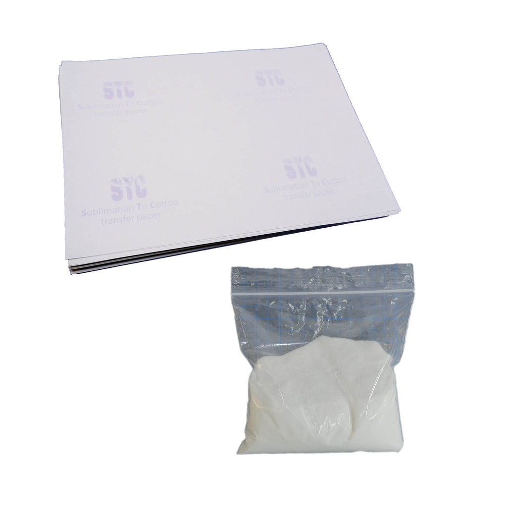STC - Sublimation To Cotton transfer paper and powder solution