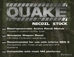 Wolverine Airsoft 'Quake' Recoil Stock - Airsoft Imports