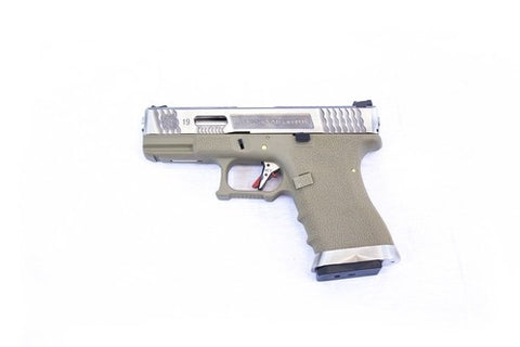 E Force EU19 Tan - Silver Slide & Silver Barrel - Airsoft Imports