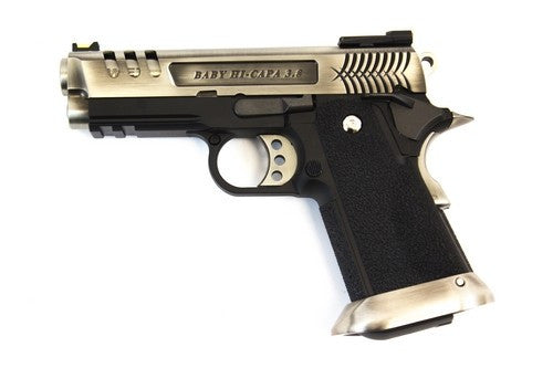 WE E Force Gen2 Hi-capa 3.8 Vented Slide Silver Pistol - Airsoft Imports
