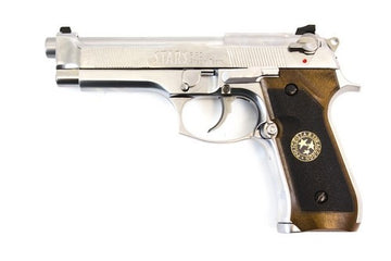 WE Biohazard M92 Gen2 Silver Full Auto Pistol