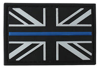 Blue Line Union Jack Rubber Patch - Airsoft Imports