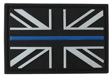 Blue Line Union Jack Rubber Patch