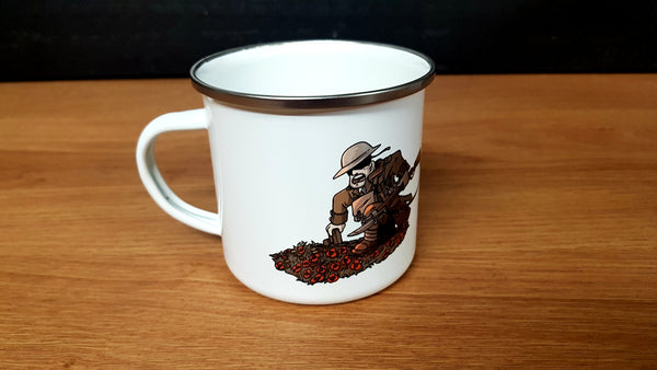 Hiwez WW1 Panoramic Warfare Enamel Mug - Airsoft Imports