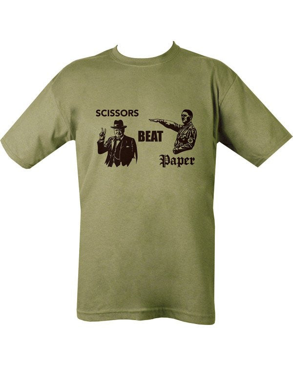 Scissors Beat Paper T-shirt - Olive Green - Airsoft Imports