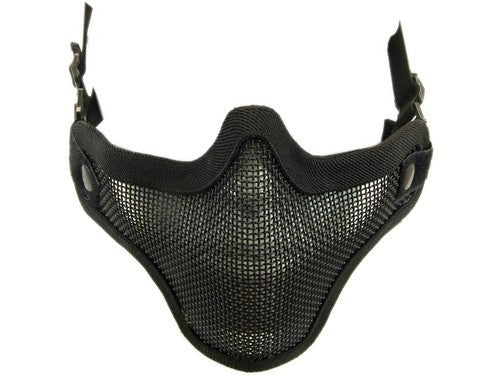 NP Mesh Lower Face Shield V1 - Black - Airsoft Imports