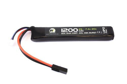 Nuprol Power 1200mah 7.4v 20c Stick Type - Airsoft Imports