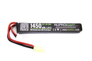 Nuprol Power 1450mah 7.4v 30c Lipo Stick Type