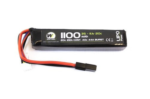 NP Power 1100mah 11.1v 20c Stick Type - Airsoft Imports