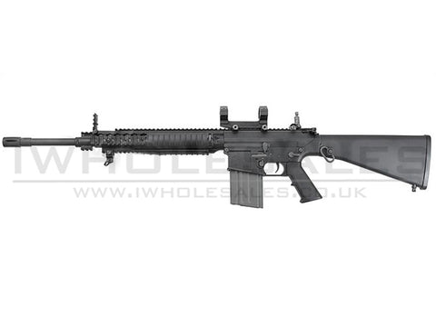 Ares - SR-004E SR25 Carbine (Locked to semi EFCC) DMR AEG (with Scope Mounts)(400fps) - Airsoft Imports