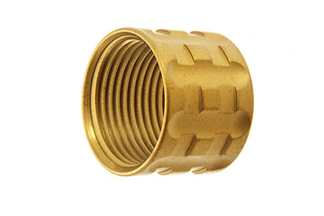 Airsoft Surgeon Diagonals Knurled Thread Protector - 14mm CCW - Gold