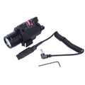 Tactical LED Flashlight Red Dot Laser Sight for Picatinny Rail