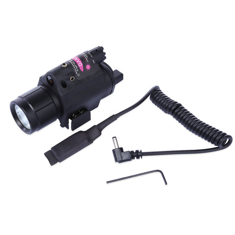20MM Tactical LED Flashlight Red Dot Laser Sight for Pistol Weaver Picatinny Rail - Airsoft Imports