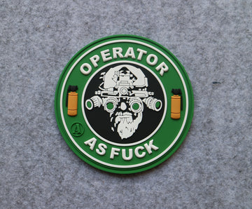 'Operator As F***' PVC Morale Patch