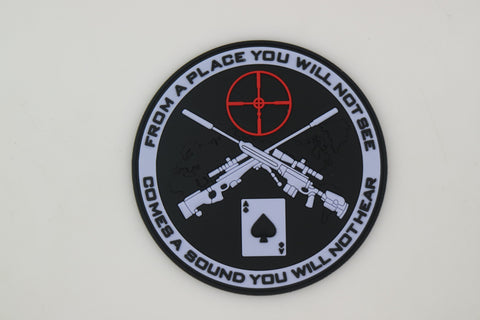 'From a place you will not see' PVC Morale Patch - Airsoft Imports