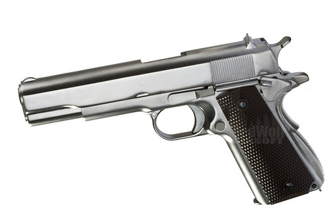 1911 A Silver Pistol - Airsoft Imports