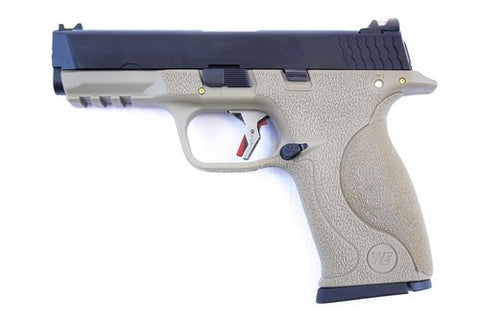 E Force Big Bird FDE Black Slide and Silver Barrel - Airsoft Imports