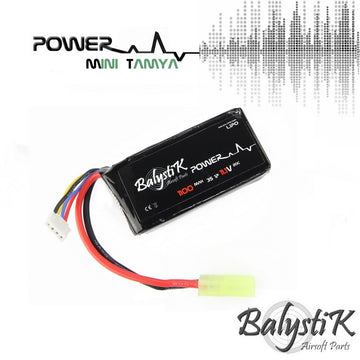 Balystik 11.1V 1100mah 20C LiPo Battery (MINI TAMIYA)