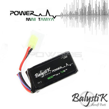 Balystik 7.4V 1600mAh 20C LiPo Battery (MINI TAMIYA)