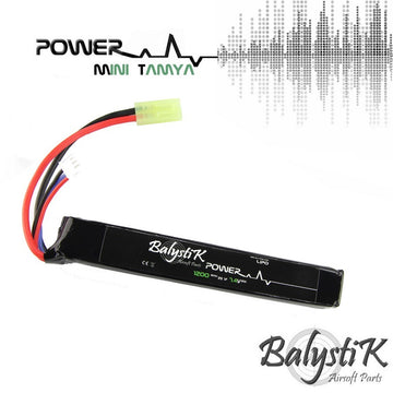 Balystik 7.4V 1200mAh 20C LiPo Battery (MINI TAMIYA)