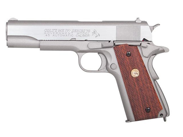 KWC/Cybergun GBB CO2 Colt Government 1911 Mark IV Series '70 (Silver) - Airsoft Imports
