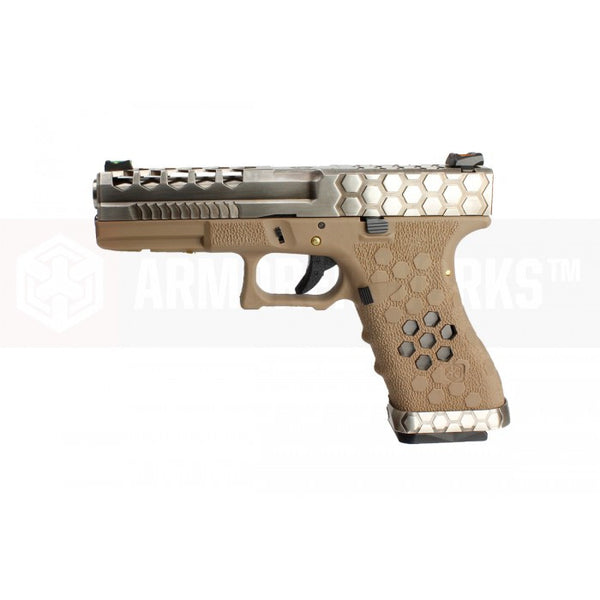 Armorer Works Custom Hex-Cut GBB Pistol - Airsoft Imports