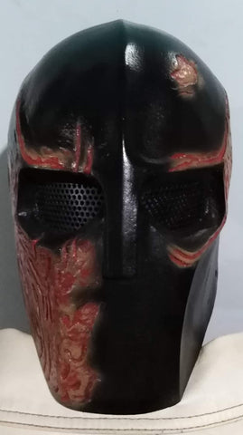 "VDA Custom Fiberglass ""Burn"" Full Face Mask With Mesh"