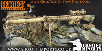 Geartech Custom Paint 'American Sniper' SR-25 AEG (Inc. Hard case)