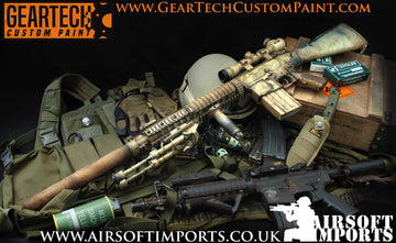 Geartech Custom Paint 'Lone Survivor' SR-25 AEG (Inc. Hard case)