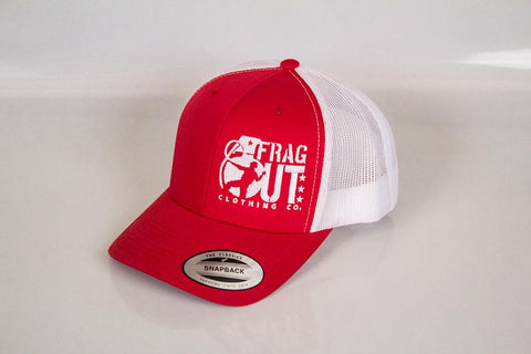 RED FRAG OUT SNAPBACK TRUCKER HAT