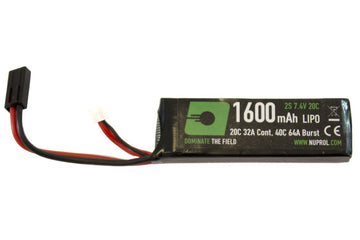 Nuprol 1600MAH 7.4V Lipo Stick Battery