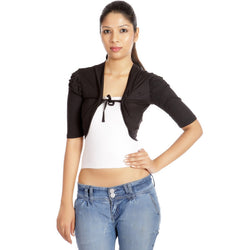 TeeMoods Stylish Black Short Shrug