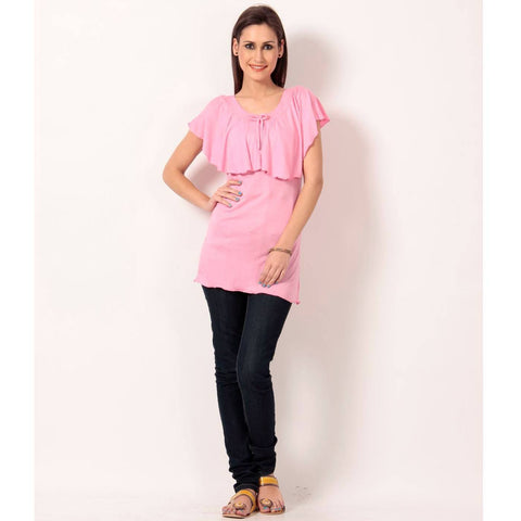 Sleeveless Solid Pink Top