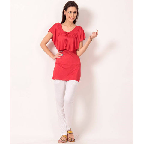 TeeMoods Sleeveless Solid Red Top
